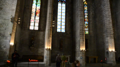 Santa Maria del Mar, Barcelona. Stock Footage
