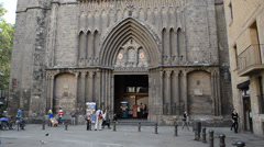 Santa Maria del Pi, Barcelona. Stock Footage