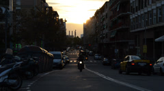 In the streets of Barcelona. Spain. - stock footage