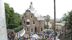 Park Guell, Barcelona. Stock Footage