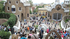 Park Guell, Barcelona. - stock footage