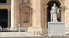 Stock Video Footage of Statue of St. Paul, St Peters in Rome