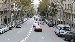 Stock Video Footage of In the streets of Barcelona. Spain.