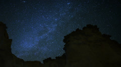 Draconids Meteor Shower 10 Dolly L CU Milky Way Timelapse Mojave Desert Stock Footage