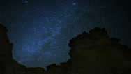 Stock Video Footage of Draconids Meteor Shower 10 Dolly L CU Milky Way Timelapse Mojave Desert