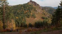 beautiful mountain terrain - stock footage