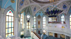 Interior of kul sharif mosque - kazan russia Stock Footage