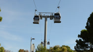 Stock Video Footage of Cable car to Montjuic in Barcelona.