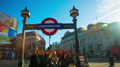 Rush hour in Piccadilly Circus in London Stock Footage