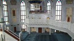 Interior of kul sharif mosque - kazan russia Stock Footage