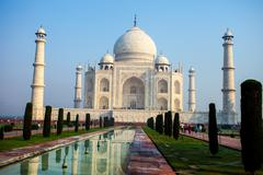 Taj mahal , a famous historical monument, a monument of love, the greatest wh Stock Photos