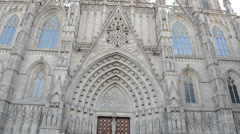 Barcelona cathedral Stock Footage