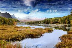 Fantastic  landscape Stock Photos