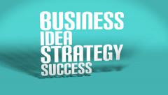 Business, idea, strategy, success conceptual  animation - stock footage