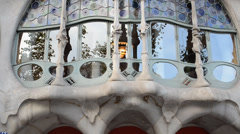 Casa Batllo, Barcelona. Architect Gaudi. Stock Footage