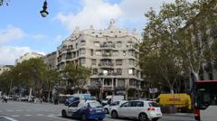 Casa Mila, Barcelona. Stock Footage
