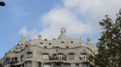 Casa Mila, Barcelona. Architect Gaudi. Stock Footage
