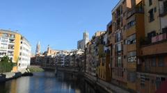 Jewish quarter in Girona. Spain. Stock Footage