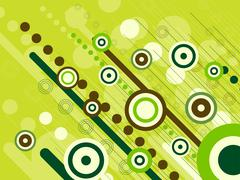 Abstract green retro background Stock Illustration