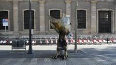 Human statue, Barcelona. Stock Footage