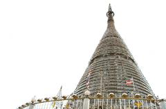 The stainless steel pagoda in songkhla Stock Photos