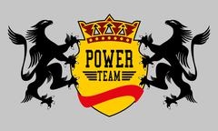 Eagle power team vector art Stock Illustration