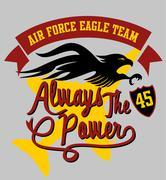 Air force eagle team vector art Stock Illustration