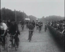 1915 - Bicycle Parade Stock Footage