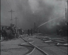 1917 - Fires In San Francisco 01 - stock footage