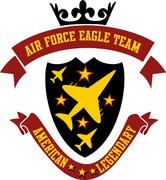 air force eagle team vector art - stock illustration