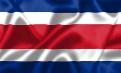 Costa rica flag blowing in the wind Stock Illustration