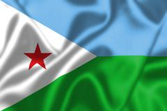Stock Illustration of djibouti flag blowing in the wind