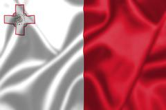 Malta flag blowing in the wind Stock Illustration