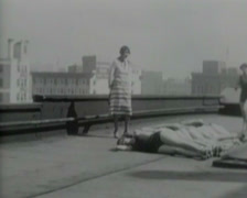 1917 - Girl Does Flying Dive 02 Stock Footage
