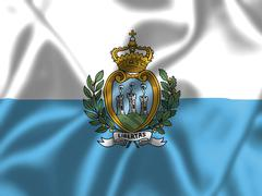 Stock Illustration of san marino flag blowing in the wind