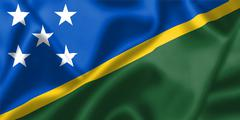 Solomon islands flag blowing in the wind Stock Illustration