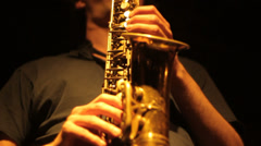 Jazz saxophone alto 01 Stock Footage