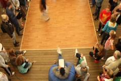 Break dance floor timelapse, young teenagers dancing breaking, click for HD Stock Footage