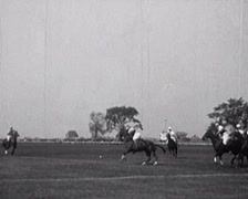 1917 - Polo Game Scenes 04 - stock footage