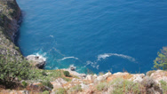 Stock Video Footage of bay in mediterranean sea - view from fortress Alanya Turkey