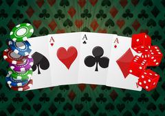 poker  - stock illustration