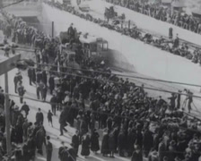 1917 - Twin-Peaks Tunnel Construction - 02 Stock Footage