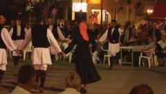Greek traditional folk dance - Lardos, Greece - stock footage