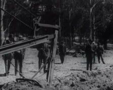 1917 - Twin-Peaks Tunnel Construction - 04 Stock Footage