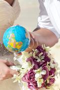 Stock Photo of wedding and honeymoon