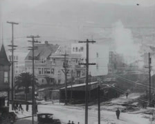 1917 - Twin-Peaks Tunnel Construction - 07 - stock footage
