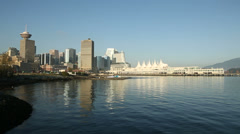 Vancouver Skyline Helicopter Departure Stock Footage