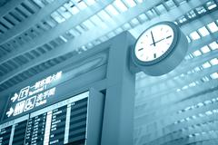 Its time to travel! go to gate. Stock Photos