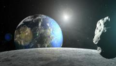 Space asteroid - stock footage