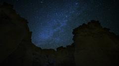 4K Draconids Meteor Shower 09 Dolly L Milky Way Timelapse Mojave Desert Stock Footage